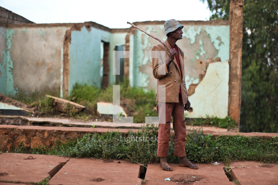 Elderly Ethiopian man