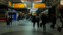 pedestrians at Metro Station in Amsterdam