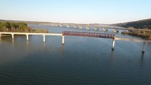Bridge over a river in Little Rock Arkansas