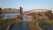 bridge over a river in Little Rock, Arkansas