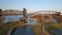 bridge over a river in Little Rock, Arkansas