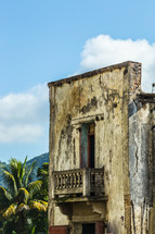 balcony on ruins