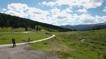 man riding a bike on a trail in Colorado