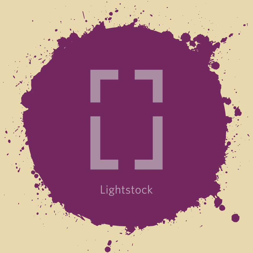 purple splatter dot