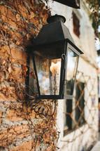 gas lantern doorway light
