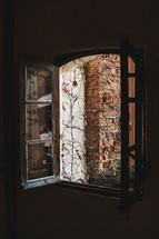 fresh air through an open window
