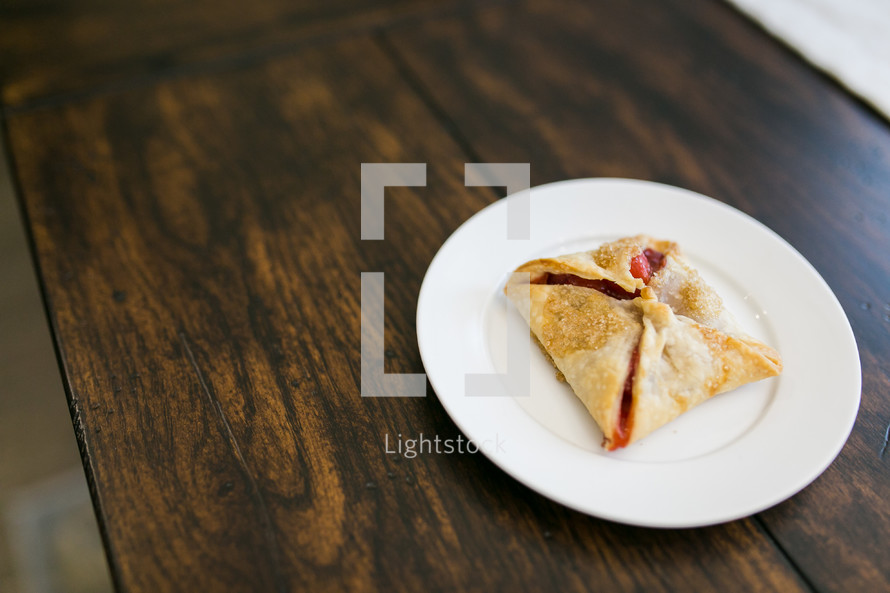 pastry on a plate