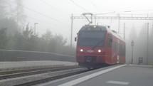 commuter train in Switzerland
