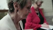 elderly women's Bible study