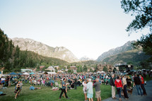 crowds at an outdoor music festival