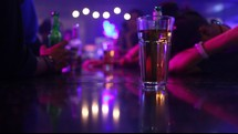 bar top, bar, night life, alcohol, beer, liquor, entertainment, beer bottles, drunk, strobe lights