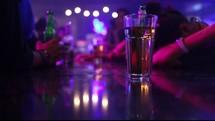 bar top, bar, night life, alcohol, beer, liquor, entertainment, beer bottles, drunk, strobe lights