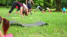 outdoor exercise as a group
