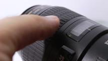 Manual adjusting focus of lens of the camera - macro