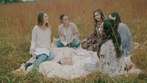 Bible study in the grass
