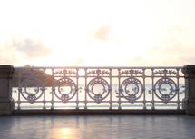 ornate white wrought iron fence