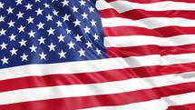 rustling American flag background