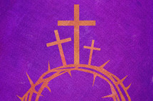three crosses and crown of thorns