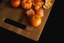 peeled clementines