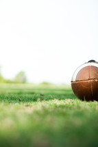 football in grass
