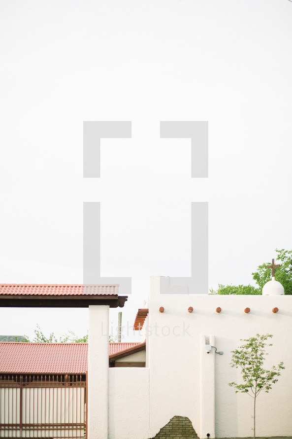 church with a tile roof