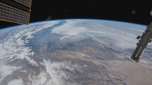 view of earth below from space