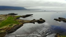 green shoreline in Ireland