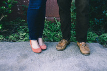 legs of a couple