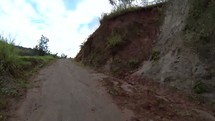 Driving muddy road time-lapse