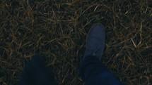 walking in grass