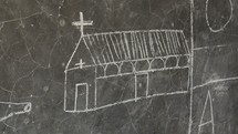 church drawn on a chalkboard