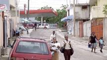 people on the streets of Haiti