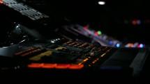 control panel of a soundboard