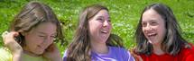 teen girls laughing
