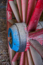 weathered wagon wheel