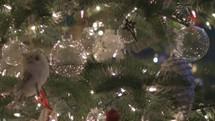 bokeh Christmas lights on a Christmas tree