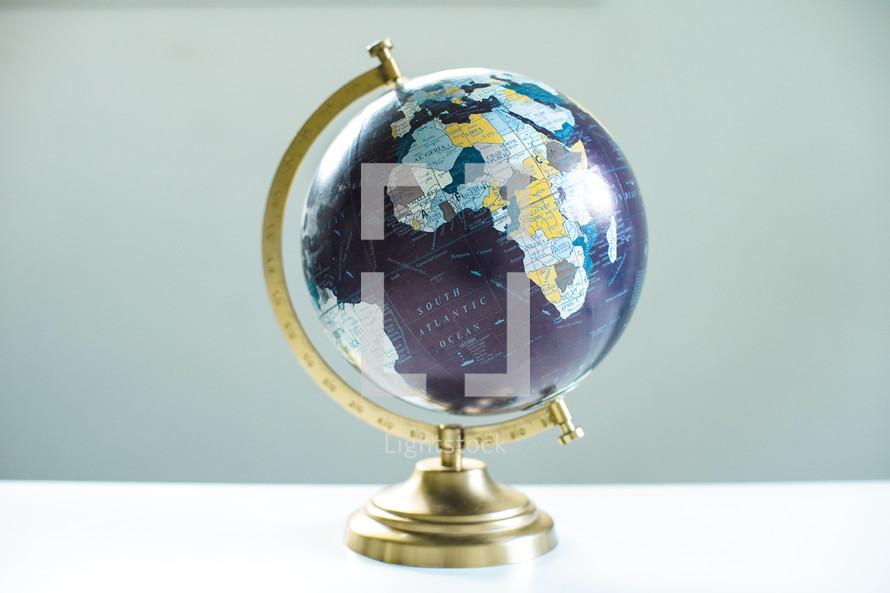 globe on a desk