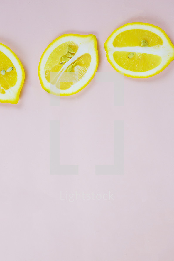 lemons on a white background