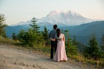 an engagement portrait at Mount Rainier National Park