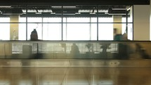 crowd of people in a busy airport