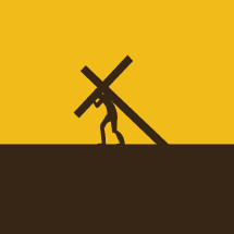 Jesus carrying the cross silhouette