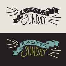 Easter Sunday banner Illustration.
