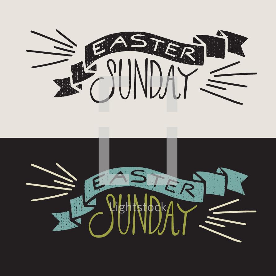 Easter Sunday banner Illustration.