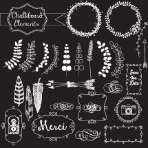 chalkboard elements set