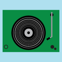 record player illustration