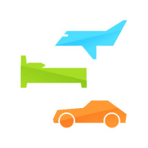 plane, airplane, bed, car, vehicle, icon