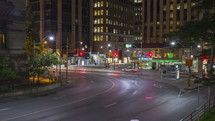 Queen and Bay Street at Night