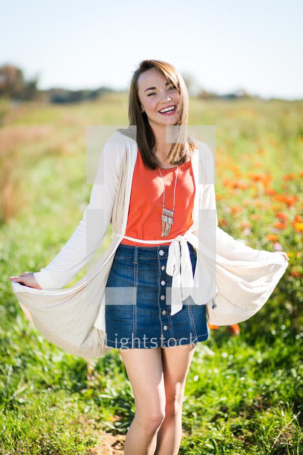 Portrait of a happy teen girl