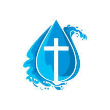 cross in a water droplet