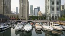 Boats of Queens Quay Toronto
